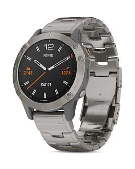 Garmin - Fenix 6 Titanium Link Bracelet Smartwatch, 47mm