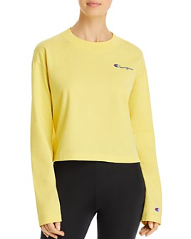 Champion - Long-Sleeve Cropped Tee