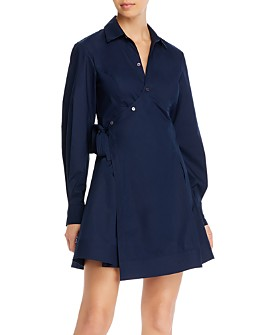 Derek Lam 10 Crosby - Petra Wrap Shirt Dress