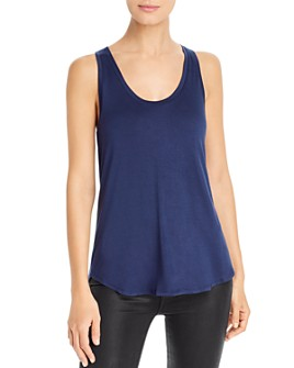 Three Dots - Scoop-Neck High/Low Tank