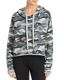 AQUA - Camo Cropped Hooded Sweatshirt - 100% Exclusive