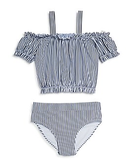 Habitual Kids - Girls' Skye Off-the-Shoulder Two-Piece Swimsuit - Little Kid
