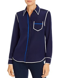 Tory Burch - Trimmed Silk Blouse
