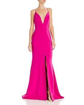 Aidan by Aidan Mattox - Crepe Trumpet Gown - 100% Exclusive