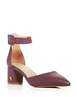 KURT GEIGER LONDON - Women's Burlington Pointed-Toe Block-Heel Pumps