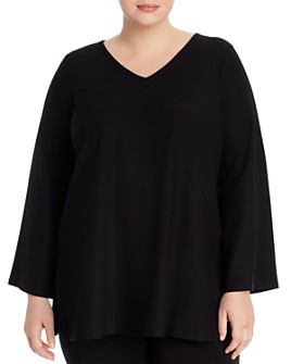 Eileen Fisher Plus - V-Neck Tunic Top