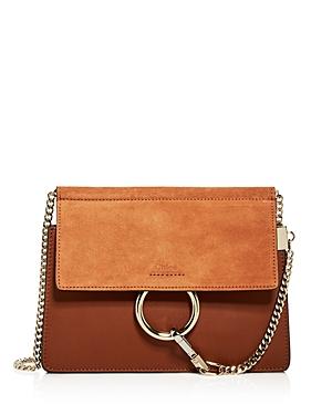 Chloe Faye Small Leather & Suede Crossbody