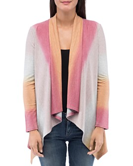 B Collection by Bobeau - Amie Dip-Dyed Open Front Cardigan