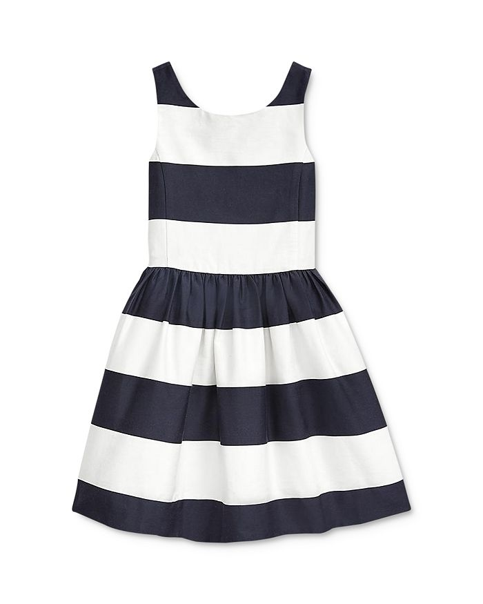 Ralph Lauren - Girls' Striped Fit-and-Flare Dress - Little Kid