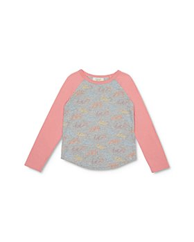 Peek Kids - Girls' Emma Hello Print Baseball Tee - Little Kid, Big Kid