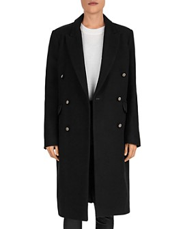 The Kooples - Double-Breasted Wool-Blend Coat