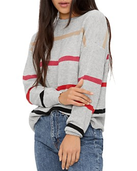 Michael Stars - Sammi Striped Ribbed-Knit Sweater