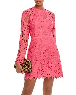 AQUA - Cutwork Lace Sheath Dress - 100% Exclusive