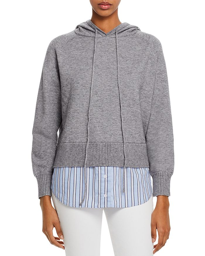 AQUA - Layered-Look Hooded Sweater - 100% Exclusive