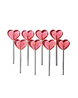 Sparko Sweets - Sparkly Pink Heart Lollipop Gift Box
