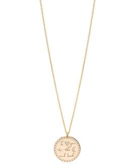"Zoë Chicco - 14K Yellow Gold Diamond Mantra Pendant Necklace, 18"""