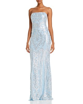 AQUA - Strapless Sequin Gown - 100% Exclusive