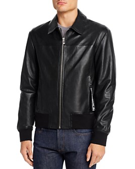 HUGO - Lowes Leather Slim Fit Jacket