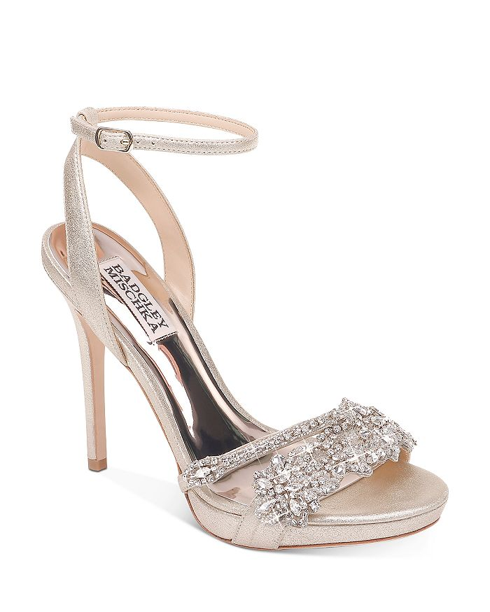 Badgley Mischka - Women's Adriana Crystal-Embellished High-Heel Sandals