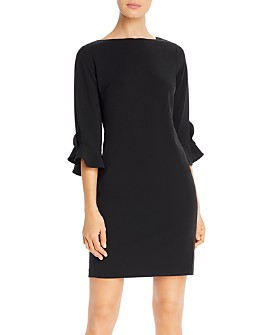 KARL LAGERFELD PARIS - Scuba Crêpe Sheath Dress