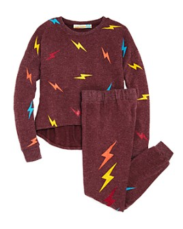 Vintage Havana - Girls' Lightning Bolt Top & Lightning Bolt Jogger Pants - Big Kid