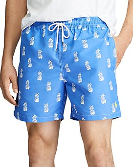 Polo Ralph Lauren - Traveler Tropical-Print Swim Trunks