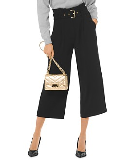 MICHAEL Michael Kors - Belted Paperbag-Waist Culottes