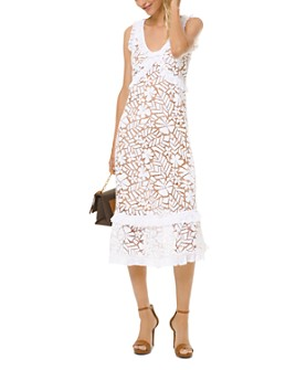 MICHAEL Michael Kors - Floral Lace Midi Dress
