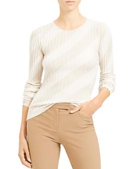Theory - Striped Silk Sweater