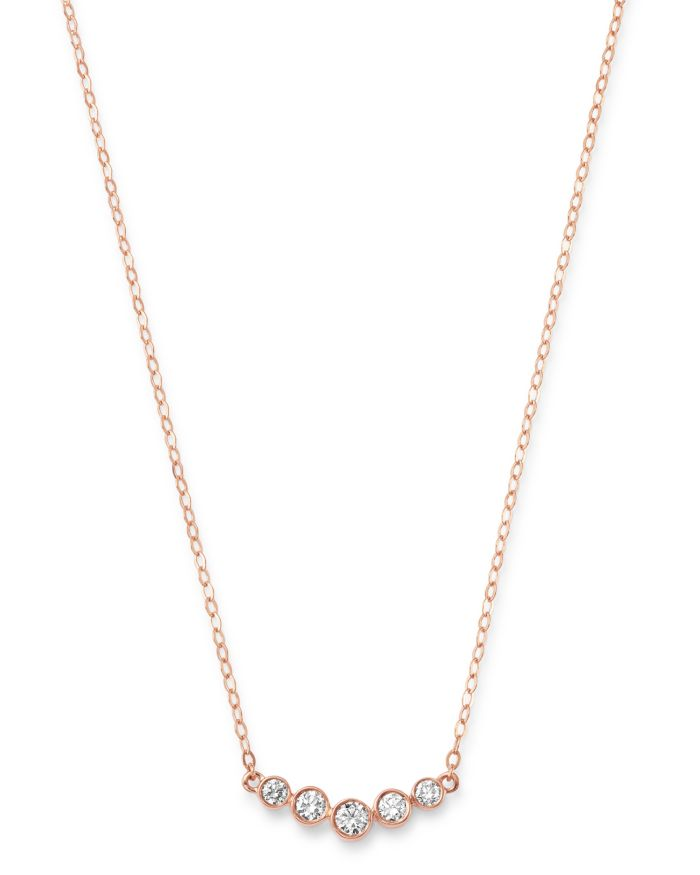 Bloomingdale's Diamond Bar Station Necklace in 14K Rose Gold, 0.25 ct. t.w. - 100% Exclusive    Bloomingdale's