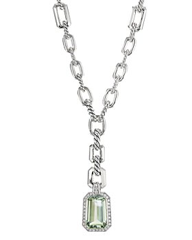 David Yurman - Stax Drop Pendant with Prasiolite and Diamonds