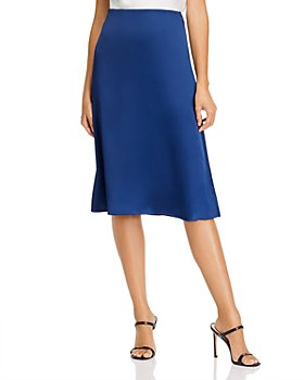 AQUA - Satin Midi Slip Skirt - 100% Exclusive