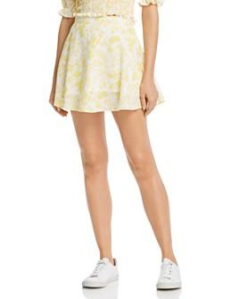 Charlie Holiday - Lemonade Floral Mini Skirt
