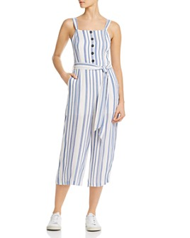 Lost and Wander - Laguna Fever Striped Wide-Leg Jumpsuit