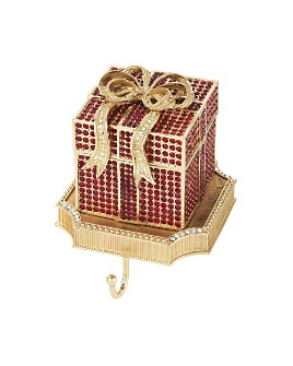 Olivia Riegel - Gift Box Crystal Pavé & Pewter Stocking Holder