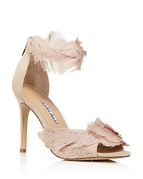 Charles David - Women's Collector Feather-Embellished High-Heel Sandals