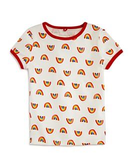 Stella McCartney - Girls' Rainbow Print Ringer Tee - Little Kid