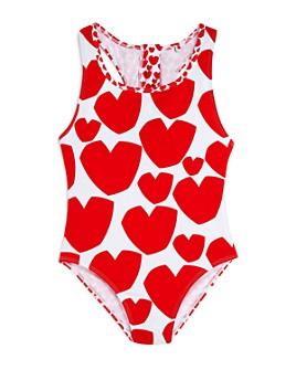 Stella McCartney - Girls' Heart Print Once-Piece Swimsuit - Little Kid