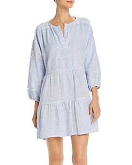 Lemlem - Semira Sky Popover Mini Dress