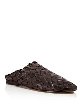 Bottega Veneta - Men's Intrecciato Fondente Leather Slippers