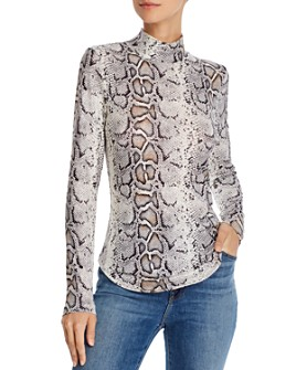 FRENCH CONNECTION - Fitted Animal-Print Turtleneck