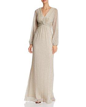Adrianna Papell - Metallic Twist-Front Gown
