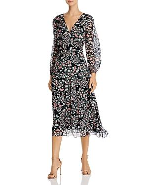 Shoshanna Aria Floral Aceline Midi Dress