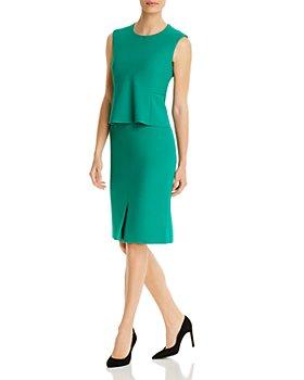 BOSS - Depeplar Peplum Overlay Dress