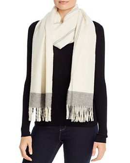 Eileen Fisher - Striped Fringe Scarf