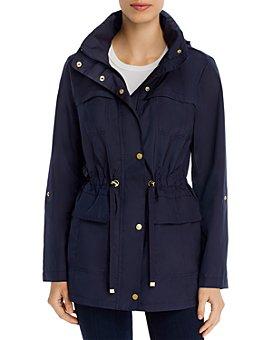 Cole Haan - Packable Zip-Front Rain Jacket
