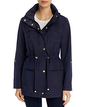 Cole Haan - Packable Zip-Front Rain Jacket