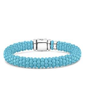 LAGOS - Sterling Silver Caviar Blue Ceramic Bracelet