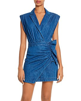 7 For All Mankind - Cotton Ruffled Blazer Dress