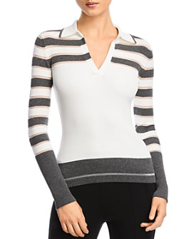 Bailey 44 - Genevieve Collared Rib-Knit Sweater